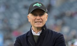 Dec 15, 2018; East Rutherford, NJ, USA; New York Jets owner Woody Johnson watches from the sidelines during the game against the Houston Texans at MetLife Stadium. Mandatory Credit: Kirby Lee-USA TODAY Sports