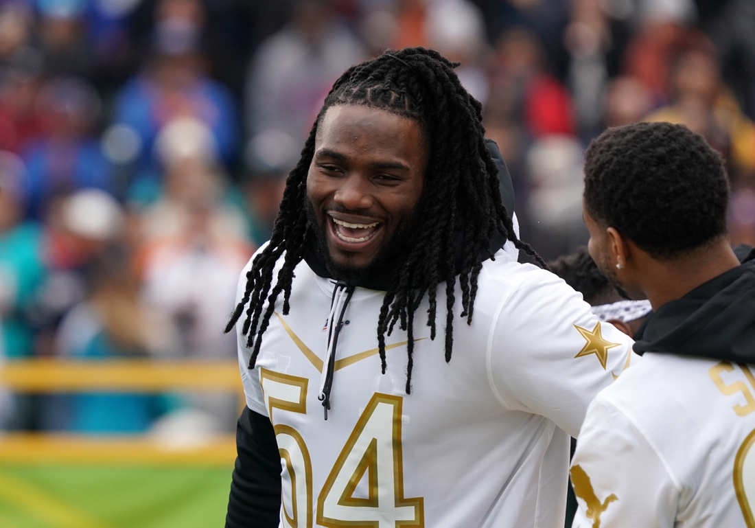Jan 22, 2020; Kissimmee, Florida, USA; Los Angeles Chargers linebacker Melvin Ingram (54)  during the Pro Bowl Skills Showdown at ESPN Wide World of Sports. Mandatory Credit: Kirby Lee-USA TODAY Sports