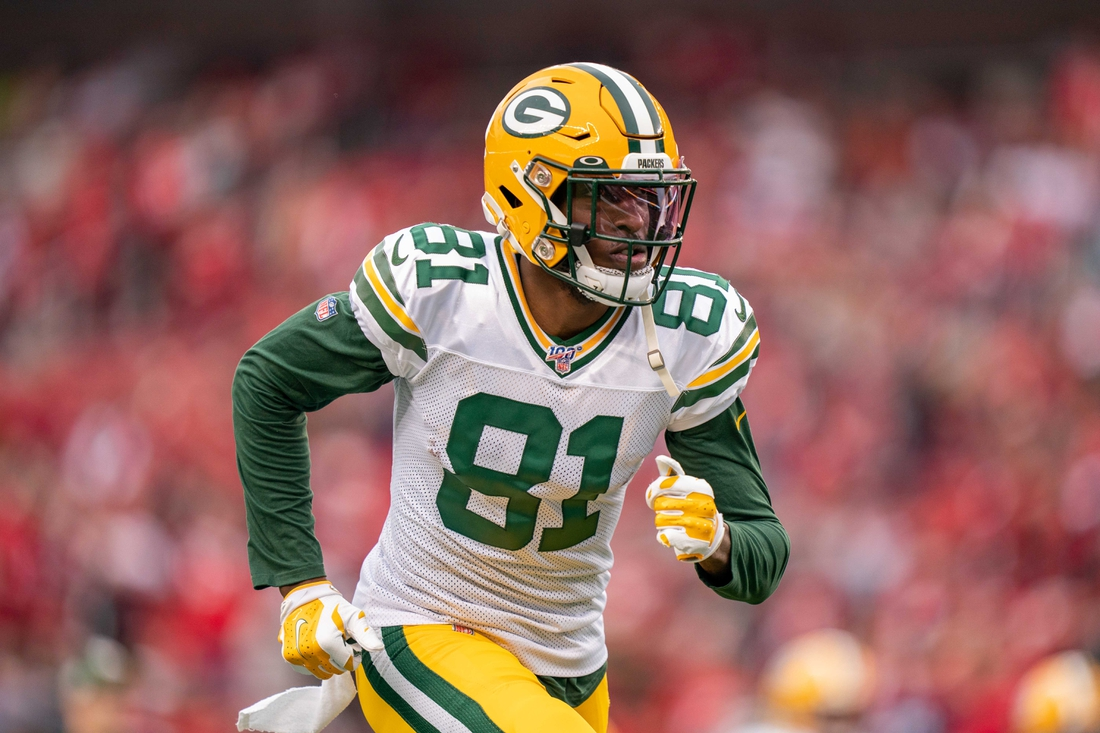 January 19, 2020; Santa Clara, California, USA; Green Bay Packers wide receiver Geronimo Allison (81) before the NFC Championship Game against the San Francisco 49ers at Levi's Stadium. Mandatory Credit: Kyle Terada-USA TODAY Sports