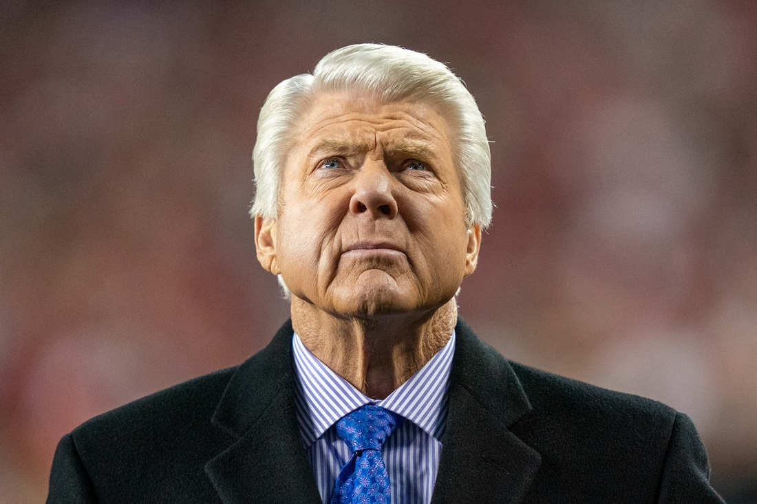 January 19, 2020; Santa Clara, California, USA; Jimmy Johnson during the third quarter in the NFC Championship Game between the San Francisco 49ers and the Green Bay Packers at Levi's Stadium. Mandatory Credit: Kyle Terada-USA TODAY Sports