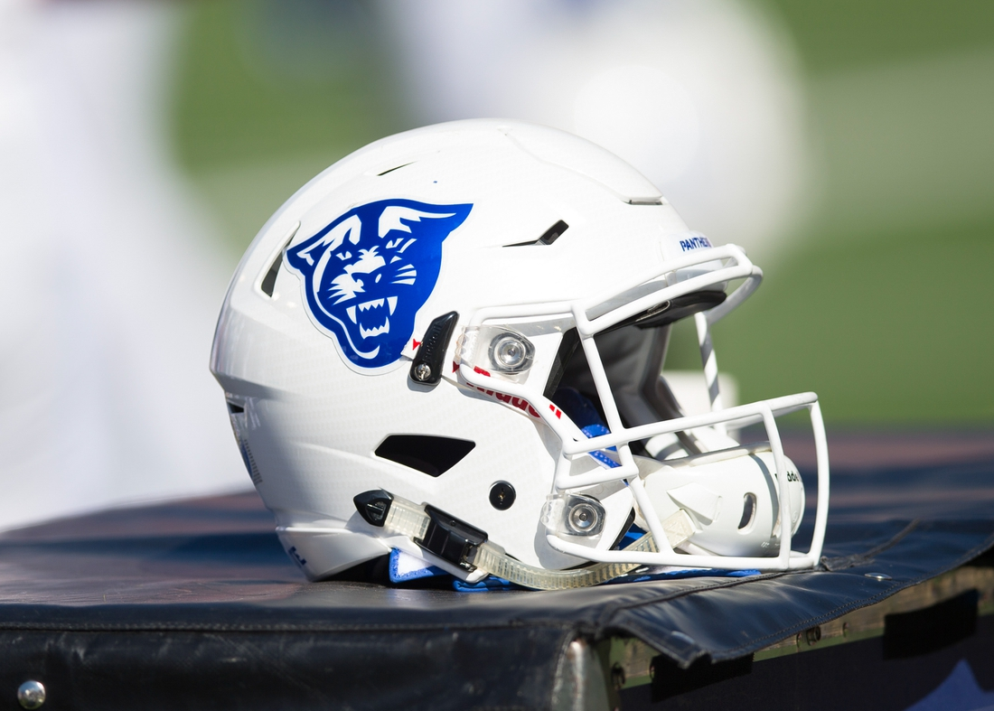 Sep 17, 2016; Madison, WI, USA;  A Georgia State Panthers helmet during the game against the Wisconsin Badgers at Camp Randall Stadium.  Wisconsin won 23-17.  Mandatory Credit: Jeff Hanisch-USA TODAY Sports