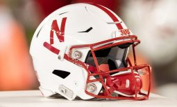 Oct 6, 2018; Madison, WI, USA; A Nebraska Cornhuskers helmet sits on the sidelines during the game against the Wisconsin Badgers at Camp Randall Stadium. Mandatory Credit: Jeff Hanisch-USA TODAY Sports