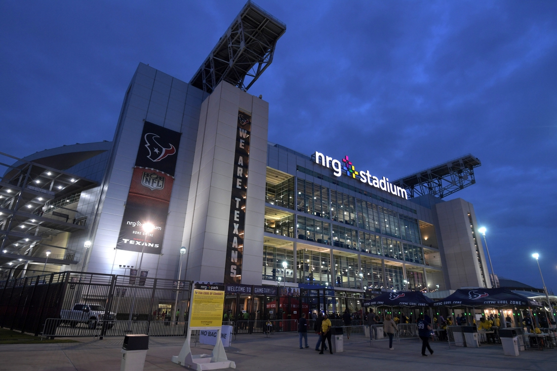 Nov 21, 2019; Houston, TX, USA; A general view of the outside of NRG Stadium prior to the game between the Indianapolis Colts and the Houston Texans. Mandatory Credit: Kirby Lee-USA TODAY Sports