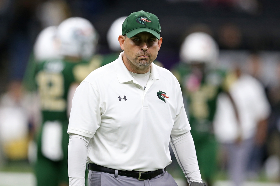 Dec 21, 2019; New Orleans, Louisiana, USA; UAB Blazers head coach Bill Clark before their game against the Appalachian State Mountaineers in the New Orleans Bowl at the Mercedes-Benz Superdome. Mandatory Credit: Chuck Cook-USA TODAY Sports