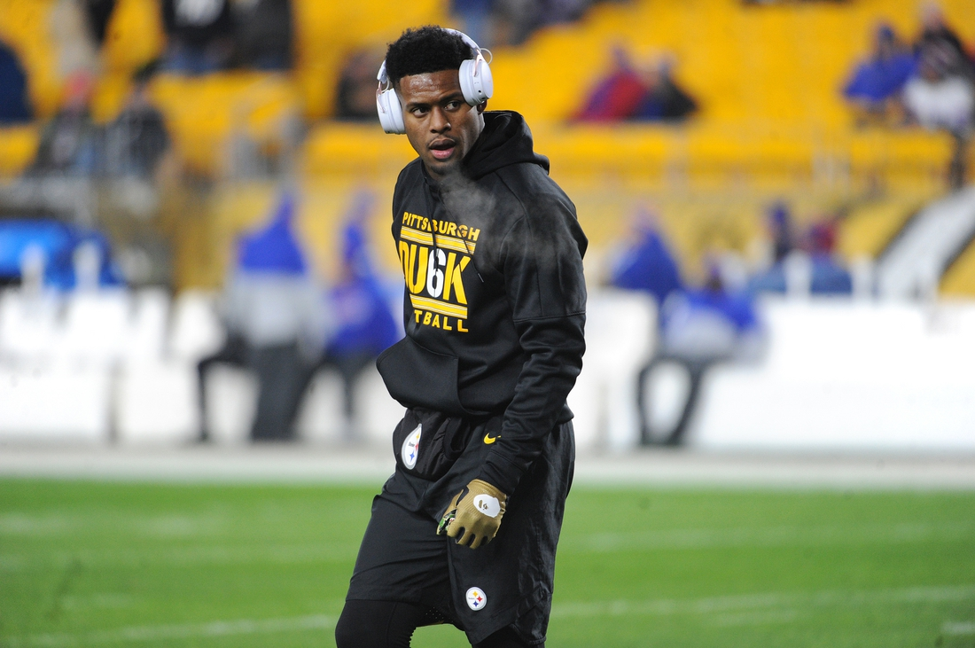 Dec 15, 2019; Pittsburgh, PA, USA; Pittsburgh Steelers wide receiver JuJu Smith-Schuster takes in the pregame atmosphere before playing the Buffalo Bills at Heinz Field. Mandatory Credit: Philip G. Pavely-USA TODAY Sports