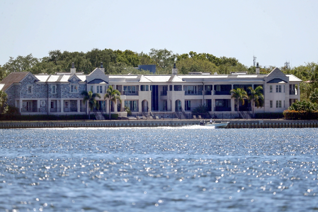 Apr 2, 2020; Tampa, Florida, USA;  A general view of Miami Marlins part owner Derek Jeter's house where Tampa Bay Buccaneers quarterback Tom Brady (12) moves into on Davis Island. Mandatory Credit: Kim Klement-USA TODAY Sports