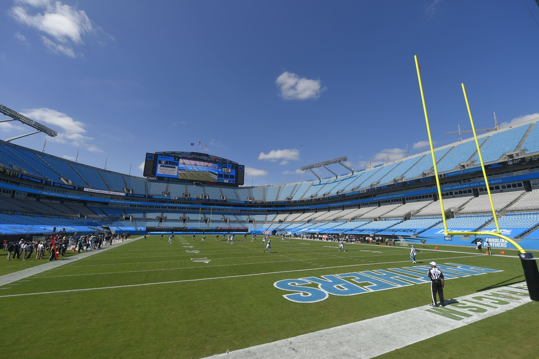Sep 13, 2020; Charlotte, North Carolina, USA; A general view during the third quarter at Bank of America Stadium. Mandatory Credit: Bob Donnan-USA TODAY Sports
