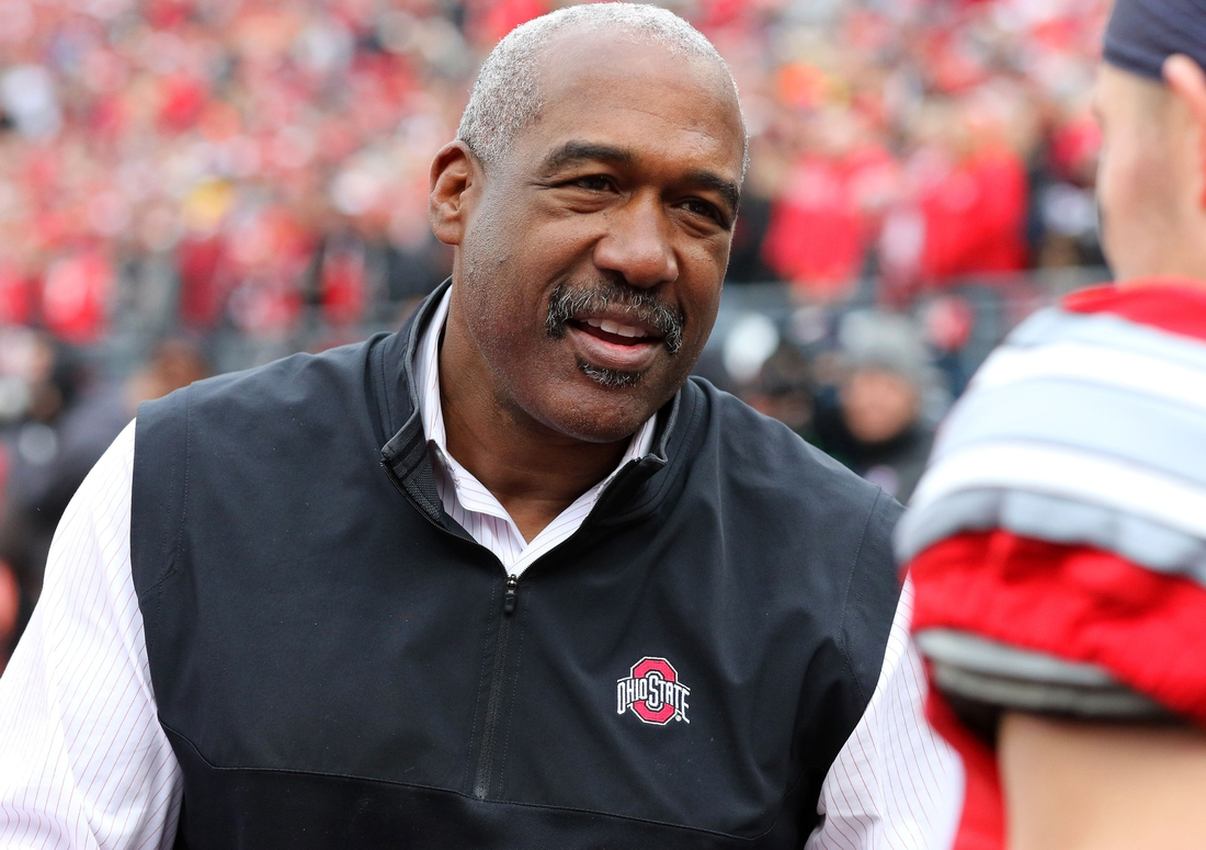 Nov 26, 2016; Columbus, OH, USA; Ohio State Buckeye athletic director Gene Smith before the game against the Michigan Wolverines at Ohio Stadium. Ohio State won 30-27. Mandatory Credit: Joe Maiorana-USA TODAY Sports