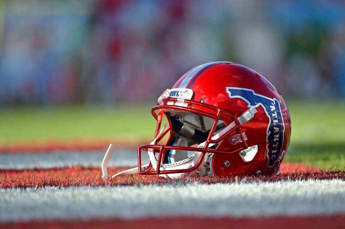 Nov 3, 2017; Boca Raton, FL, USA; A general view of a Florida Atlantic Owls helmet prior to the game against the Marshall Thundering Herd at FAU Football Stadium. Mandatory Credit: Jasen Vinlove-USA TODAY Sports