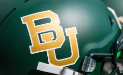 Sep 15, 2018; Waco, TX, USA; A view of the logo on a Baylor Bears helmet during the game between the Bears and the Duke Blue Devils at McLane Stadium. Mandatory Credit: Jerome Miron-USA TODAY Sports