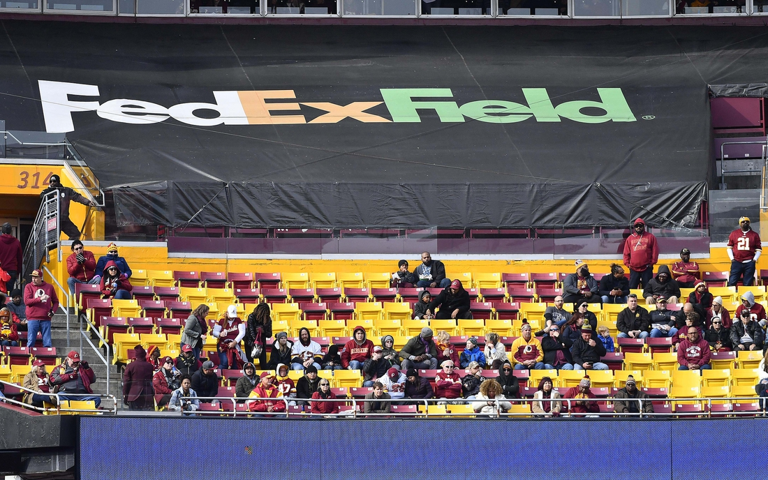 Nov 18, 2018; Landover, MD, USA; Empty club level seats are seen during the first half of a game between the Washington Redskins and the Houston Texans at FedEx Field. Mandatory Credit: Brad Mills-USA TODAY Sports