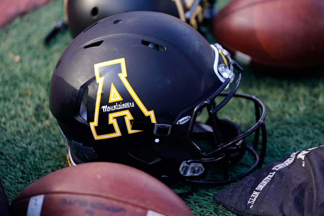 Dec 7, 2019; Boone, NC, USA; An Appalachian State Mountaineers lays on the sidelines during the second half against the Louisiana-Lafayette Ragin Cajuns at Kidd Brewer Stadium. Mandatory Credit: Jeremy Brevard-USA TODAY Sports