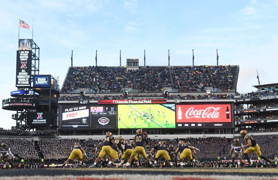 Dec 14, 2019; Philadelphia, PA, USA; A general view during the second quarter during the 120th Army-Navy game at Lincoln Financial Field. Mandatory Credit: James Lang-USA TODAY Sports