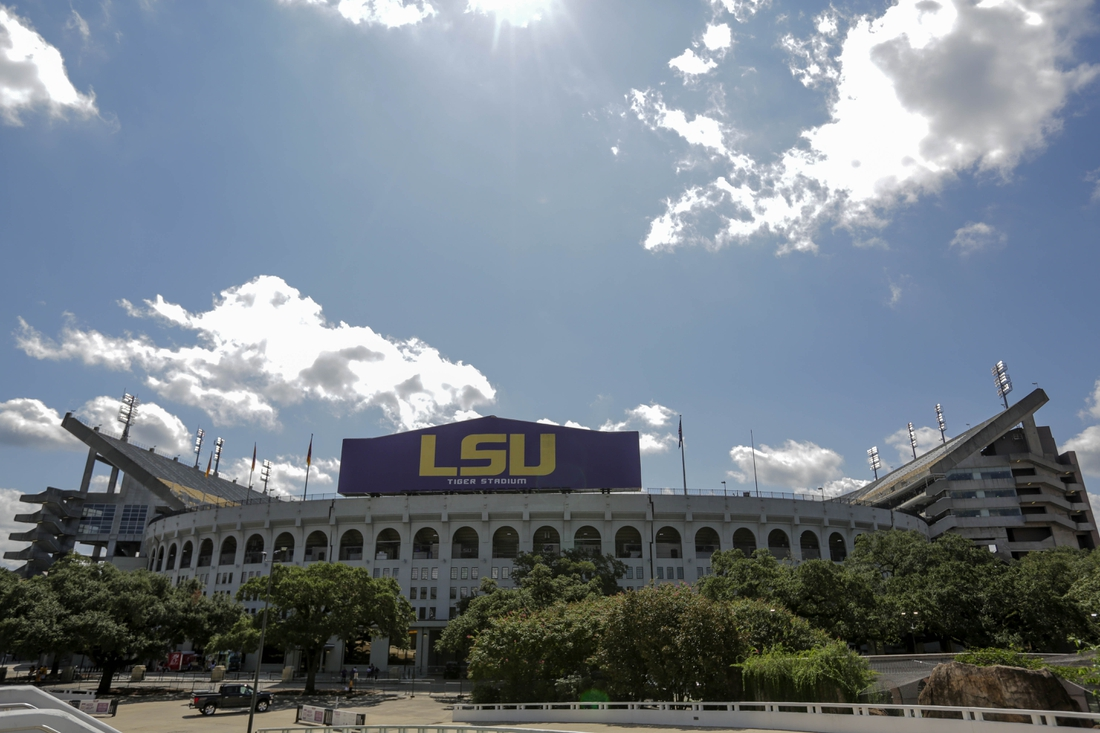 Sep 26, 2020; Baton Rouge, Louisiana, USA; A general view outside prior to kickoff between the LSU Tigers and the Mississippi State Bulldogs at Tiger Stadium . Mandatory Credit: Derick E. Hingle-USA TODAY Sports
