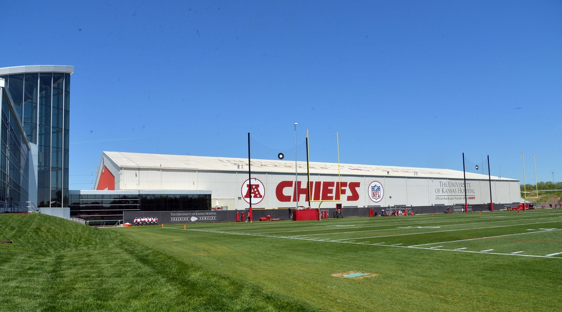 May 6, 2017; Kansas City, MO, USA; A general view of the facility before the Kansas City Chiefs rookie mini camp at the University of Kansas Hospital Training Complex. Mandatory Credit: Denny Medley-USA TODAY Sports