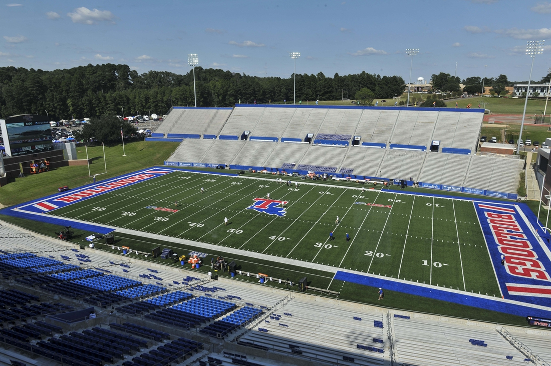 Sep 9, 2017; Ruston, LA, USA; General view before the game between the Louisiana Tech Bulldogs and the Mississippi State Bulldogs at Joe Aillet Stadium. Mandatory Credit: Justin Ford-USA TODAY Sports