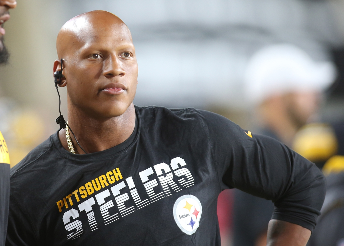 Aug 9, 2019; Pittsburgh, PA, USA;   Pittsburgh Steelers linebacker Ryan Shazier (50) looks on from the sidelines against the Tampa Bay Buccaneers during the fourth quarter at Heinz Field. The Steelers won 30-28.Mandatory Credit: Charles LeClaire-USA TODAY Sports