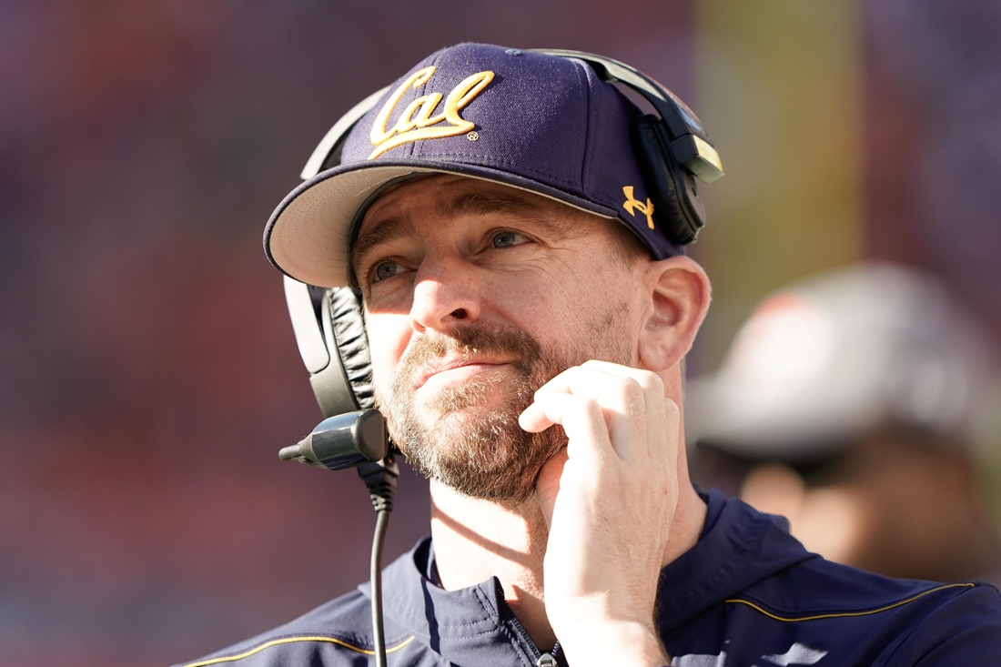 Dec 30, 2019; Santa Clara, California, USA;  California Golden Bears head coach Justin Wilcox  during the second quarter against the Illinois Fighting Illini at Levi's Stadium. Mandatory Credit: Stan Szeto-USA TODAY Sports