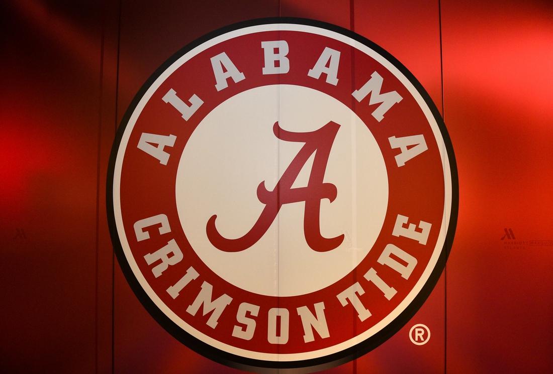 Jan 5, 2018; Atlanta, GA, USA; A view of the Alabama Crimson Tide logo is seen at the Marriott Marquis. Mandatory Credit: Adam Hagy-USA TODAY Sports