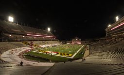 Oct 30, 2020; College Park, Maryland, USA;  A general view of  Capital One Field before the game between the Maryland Terrapins and the Minnesota Golden Gophers at Maryland Stadium. Mandatory Credit: Tommy Gilligan-USA TODAY Sports