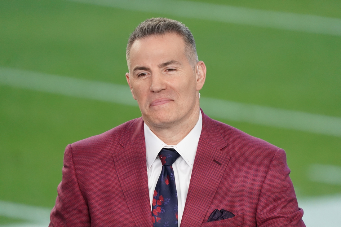 Feb 2, 2020; Miami Gardens, Florida, USA; Kurt Warner of the NFL Network prior to the Super Bowl LIV at Hard Rock Stadium. Mandatory Credit: Kirby Lee-USA TODAY Sports
