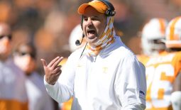 Oct 3, 2020; Knoxville, TN, USA;   Tennessee head coach Jeremy Pruitt is seen during the third quarter of a game between Tennessee and Missouri at Neyland Stadium in Knoxville, Tenn., Saturday, Oct. 3, 2020. Mandatory Credit:  Calvin Mattheis-USA TODAY NETWORK