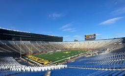 Oct 31, 2020; Ann Arbor, Michigan, USA;  General view at Michigan Stadium prior to the game between the Michigan Wolverines and the Michigan State Spartans. Mandatory Credit: Rick Osentoski-USA TODAY Sports