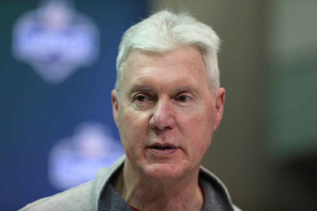 Mar 1, 2017; Indianapolis, IN, USA; Green Bay Packers general manager Ted Thompson speaks to the media during the 2017 NFL Combine at the Indiana Convention Center. Mandatory Credit: Brian Spurlock-USA TODAY Sports