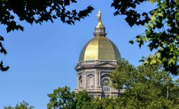 iSep 15, 2018; South Bend, IN, USA; A general view of the Golden Dome on the campus of the University of Notre Dame before the game between the Notre Dame Fighting Irish and the Vanderbilt Commodores at Notre Dame Stadium. Mandatory Credit: Matt Cashore-USA TODAY Sports