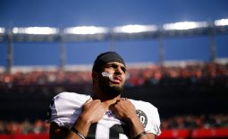 Dec 29, 2019; Denver, Colorado, USA; Oakland Raiders wide receiver Tyrell Williams (16) before the game against the Denver Broncos at Empower Field at Mile High. Mandatory Credit: Isaiah J. Downing-USA TODAY Sports