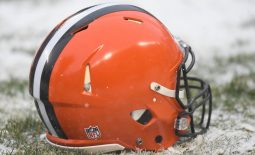 Dec 24, 2017; Chicago, IL, USA; A general view of a Cleveland Browns helmet prior to a game against the Chicago Bears at Soldier Field. The Bears won 20-3. Mandatory Credit: Patrick Gorski-USA TODAY Sports