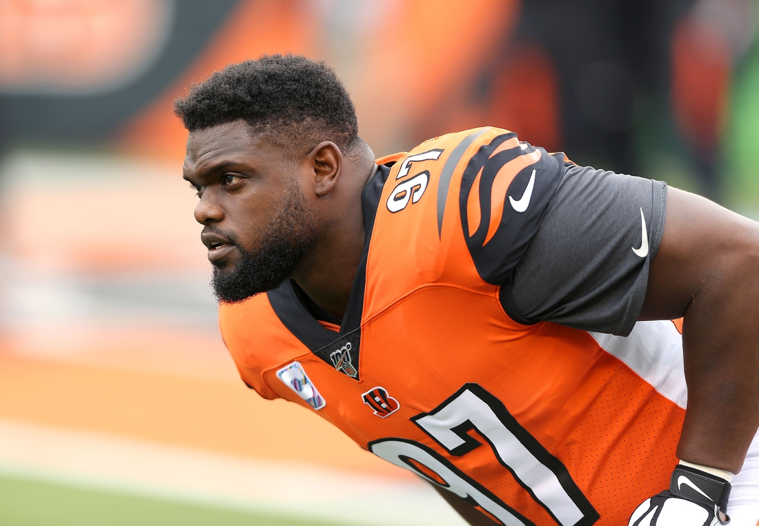 Oct 6, 2019; Cincinnati, OH, USA; Cincinnati Bengals defensive tackle Geno Atkins (97) before the game against the Arizona Cardinals at Paul Brown Stadium. Mandatory Credit: Joe Maiorana-USA TODAY Sports