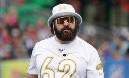 Jan 23, 2020; Kissimmee, Florida, USA; Philadelphia Eagles center Jason Kelce (62) during NFC practice at ESPN Wide World of Sports. Mandatory Credit: Kirby Lee-USA TODAY Sports