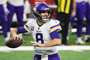Jan 3, 2021; Detroit, Michigan, USA; Minnesota Vikings quarterback Kirk Cousins (8) throws a pass against the Detroit Lions during the first quarter at Ford Field. Mandatory Credit: Tim Fuller-USA TODAY Sports