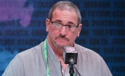 Feb 25, 2020; Indianapolis, Indiana, USA; New York Giants general manager Dave Gettleman during the NFL Scouting Combine at the Indiana Convention Center. Mandatory Credit: Kirby Lee-USA TODAY Sports