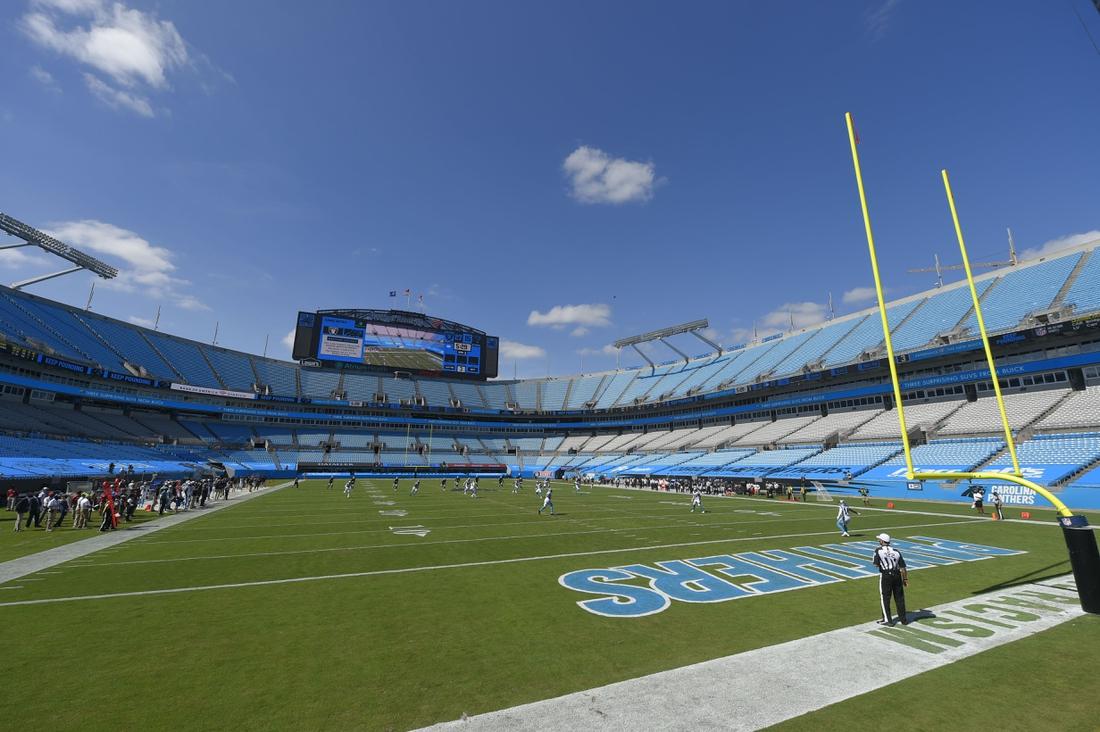 Sep 13, 2020; Charlotte, North Carolina, USA; A general view during the third quarter at Bank of America Stadium. Mandatory Credit: Bob Donnan-USA TODAY Sports