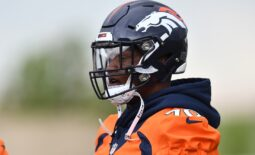 Jun 4, 2019; Denver, CO, USA; Denver Broncos offensive tackle Ja'Wuan James (70)  looks on during mini camp drills at the Pat Bowlen Fieldhouse at UCHealth Training Center. Mandatory Credit: Ron Chenoy-USA TODAY Sports