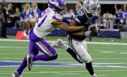 Dallas Cowboys' Amari Cooper is tackled by Minnesota Vikings' Mike Hughes Sunday, Nov. 10, 2019, at AT&T Stadium in Arlington. The Vikings defeated the Cowboys 28-24.Nfl Dallas Cowboys Minnesota Vikings