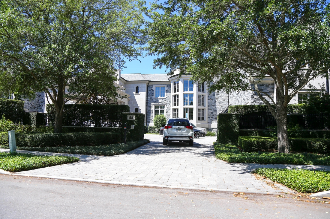Apr 2, 2020; Tampa, Florida, USA;  A general view of Miami Marlins part owner Derek Jeter  house where Tampa Bay Buccaneers quarterback Tom Brady (12) moves into on Davis Island. Mandatory Credit: Kim Klement-USA TODAY Sports
