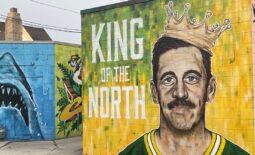 A new mural of Green Bay Packers quarterback Aaron Rodgers by artist Beau Thomas can be found in the alley in the 300 block of South Broadway in Green Bay.Rodgersmural