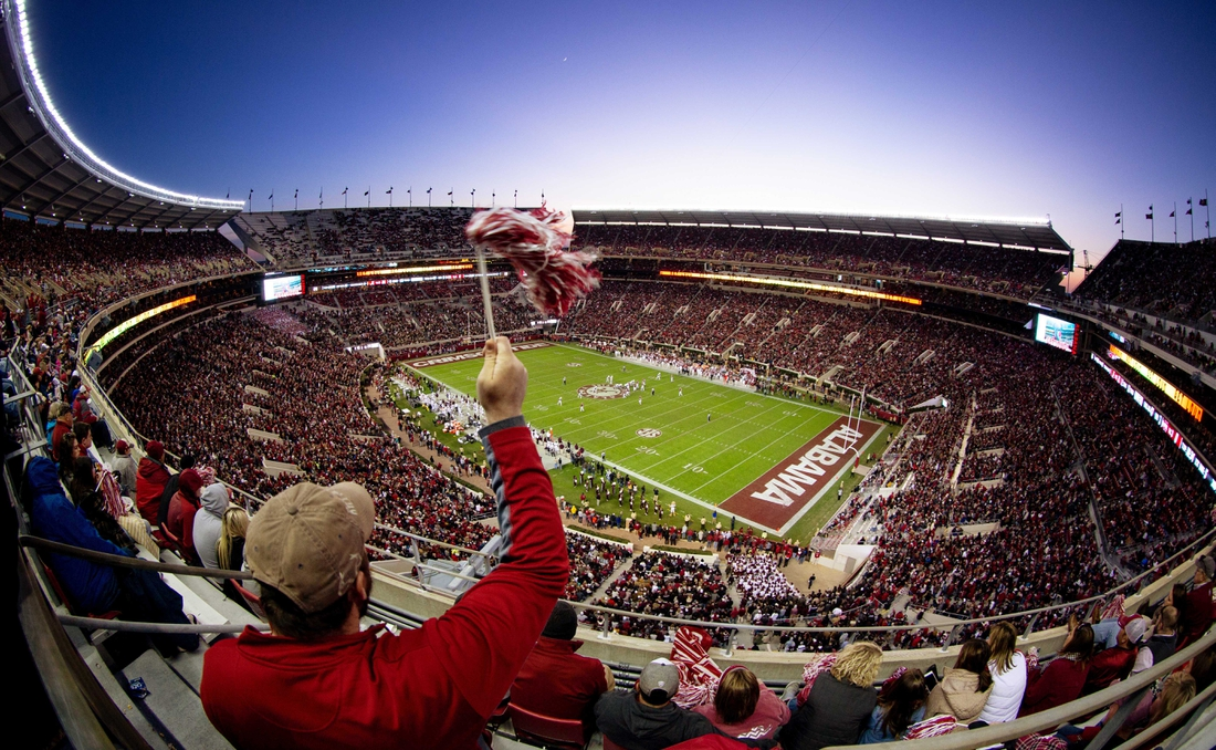 Nov 10, 2018; Tuscaloosa, AL, USA; A general view of  Bryant-Denny Stadium during the game against Mississippi State Bulldogs. Mandatory Credit: Marvin Gentry-USA TODAY Sports