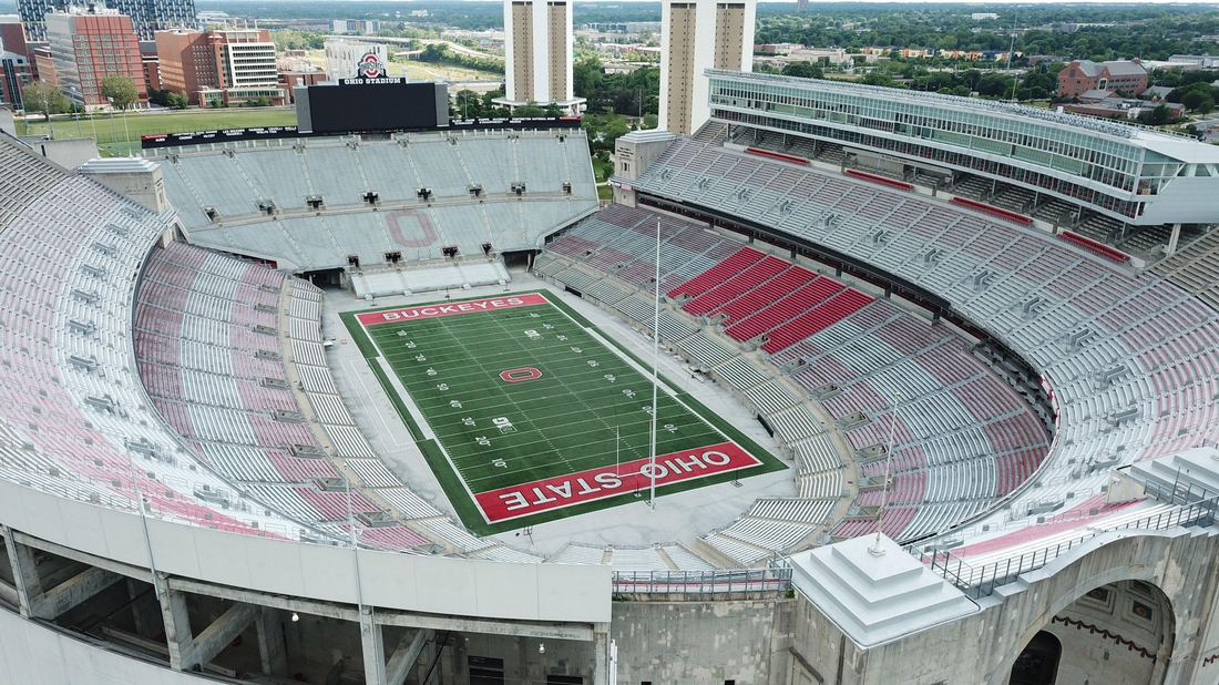 June 17, 2020; Columbus, OH, USA; Ohio Stadium, also known as the Horseshoe, the Shoe, and the House That Harley Built, is on the campus of The Ohio State University. Mandatory Credit: Doral Chenoweth/Columbus Dispatch via USA TODAY NETWORK