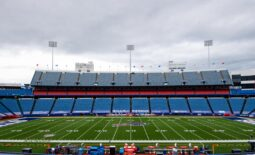 Sep 13, 2020; Orchard Park, New York, USA; General view of Bills Stadium prior to the game between the New York Jets and the Buffalo Bills. Mandatory Credit: Rich Barnes-USA TODAY Sports