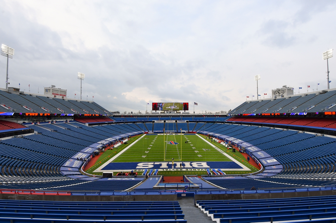 Jan 16, 2021; Orchard Park, New York, USA; General view of Bills Stadium prior to an AFC Divisional Round game between the Baltimore Ravens and the Buffalo Bills. Mandatory Credit: Rich Barnes-USA TODAY Sports