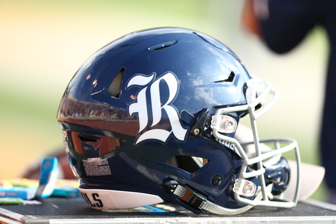 Sep 29, 2018; Winston-Salem, NC, USA; A Rice Owls helmet sits on the sidelines during the game against the Wake Forest Demon Deacons at BB&T Field. Mandatory Credit: Jeremy Brevard-USA TODAY Sports
