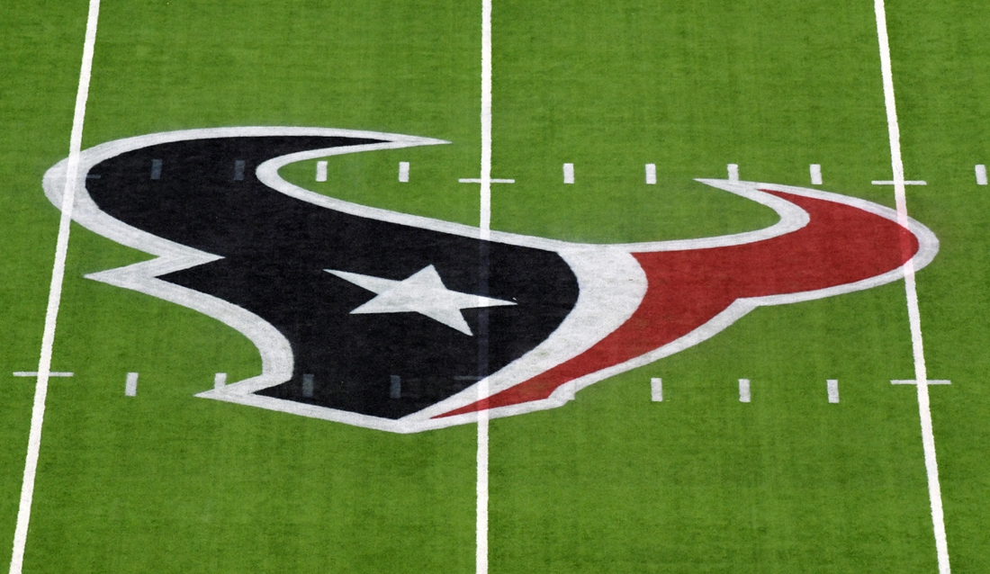 Nov 21, 2019; Houston, TX, USA; Houston Texans logo is seen on the field before a game between the Indianapolis Colts and Houston Texans at NRG Stadium. Mandatory Credit: Kirby Lee-USA TODAY Sports