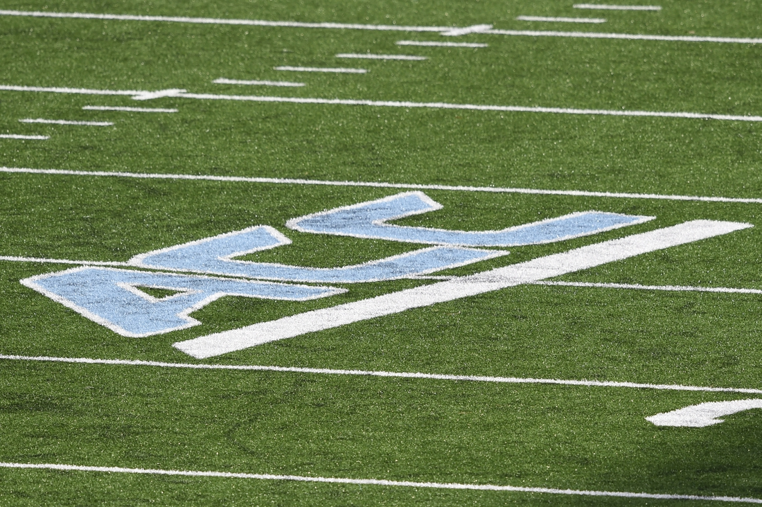 Dec 5, 2020; Chapel Hill, North Carolina, USA; A view of the field with the ACC logo in the second quarter at Kenan Memorial Stadium. Mandatory Credit: Bob Donnan-USA TODAY Sports