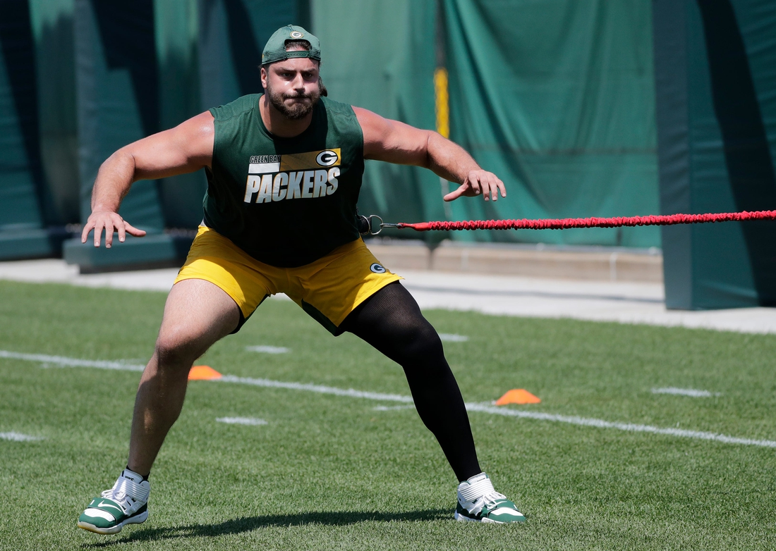 Green Bay Packers offensive tackle David Bakhtiari (69) participates in minicamp practice Wednesday, June 9, 2021, in Green Bay, Wis.  Cent02 7g5lr5tecm0e0vjt71c Original