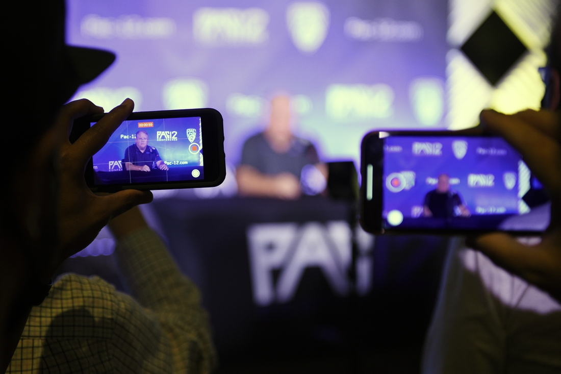 Jul 27, 2021; Hollywood, CA, USA; UCLA Bruins head coach Chip Kelly speaks with the media during the Pac-12 football Media Day at the W Hollywood. Mandatory Credit: Kelvin Kuo-USA TODAY Sports