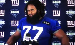New York Giants offensive lineman Joe Looney will provide options at center and guard.  Looney A